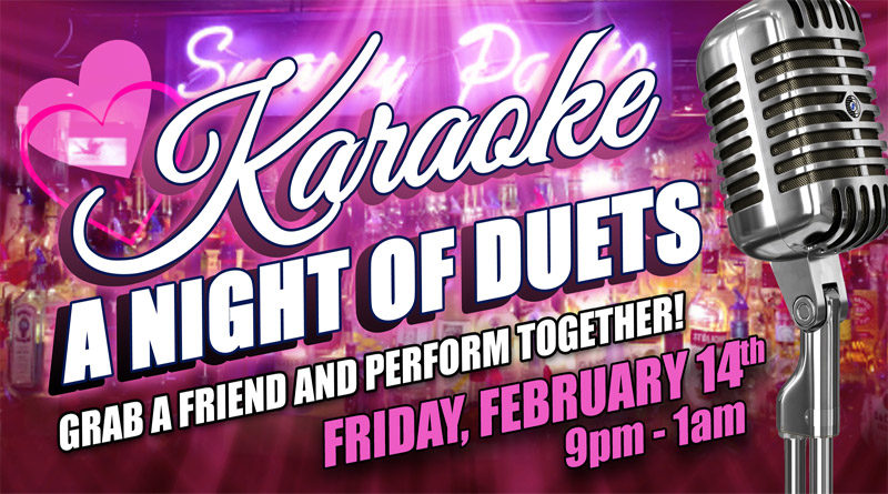 Smarty Pants Bar Night of Duets Karaoke Valentine's Day