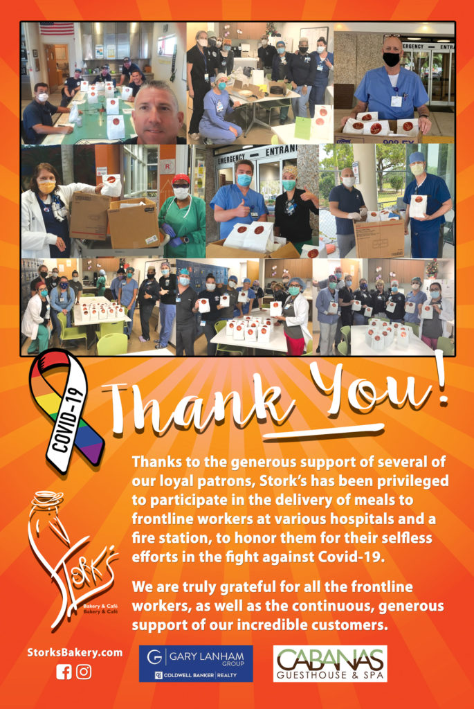 Stork's Bakery is grateful for all the frontline workers, as well as the generous support of our incredible customers.